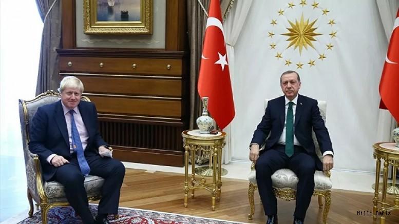 Başkan Erdoğan, İngiltere Başbakanı Johnson ile görüştü