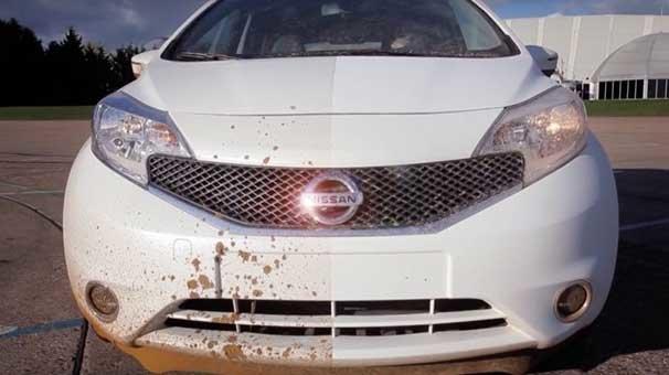 Nissan kendini temizleyen araba boyası geliştirdi